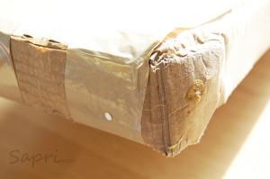 ein nasses und herrlich aufgeweichtes Paket bekommen