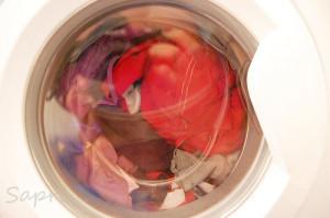 die Wäsche ein paar Runden drehen lassen