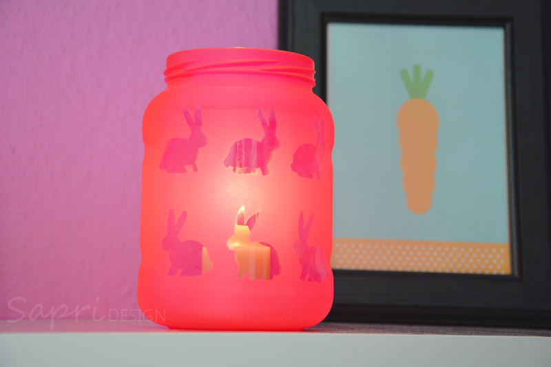 Hervorragend Sapri Design Diy Windlicht Ostern Osterhasen Kerzen Glas