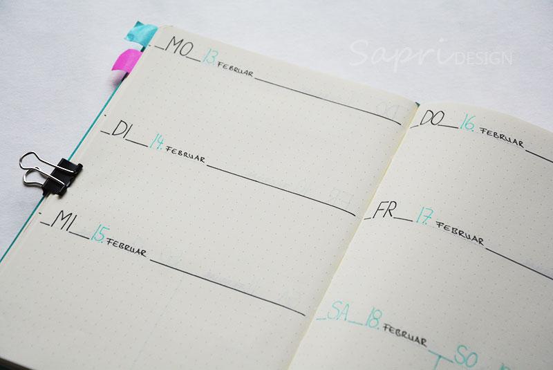 sapri-design-blog-bullet-journal-journaling-bujo-wochenübersicht-einkaufsliste-stabilo-edding-fineliner-kalender-planer-planner-leuchtturm