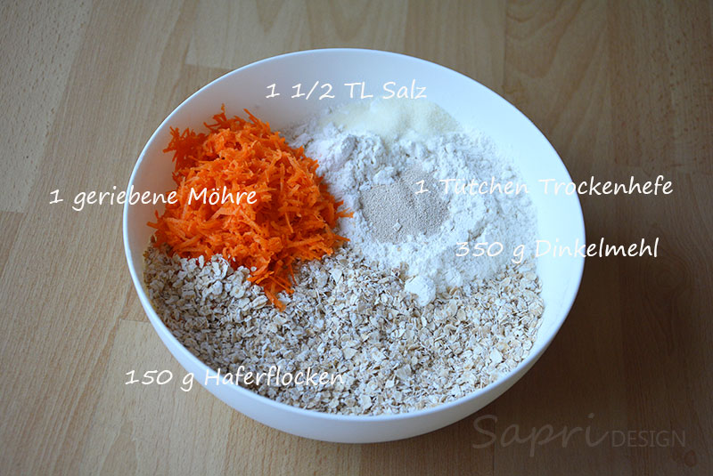 sapri-design-wochenend-rezept-dinkel-brötchen-schnell-backen-kochen-möhre-sonnenblumenkerne-haferflocken