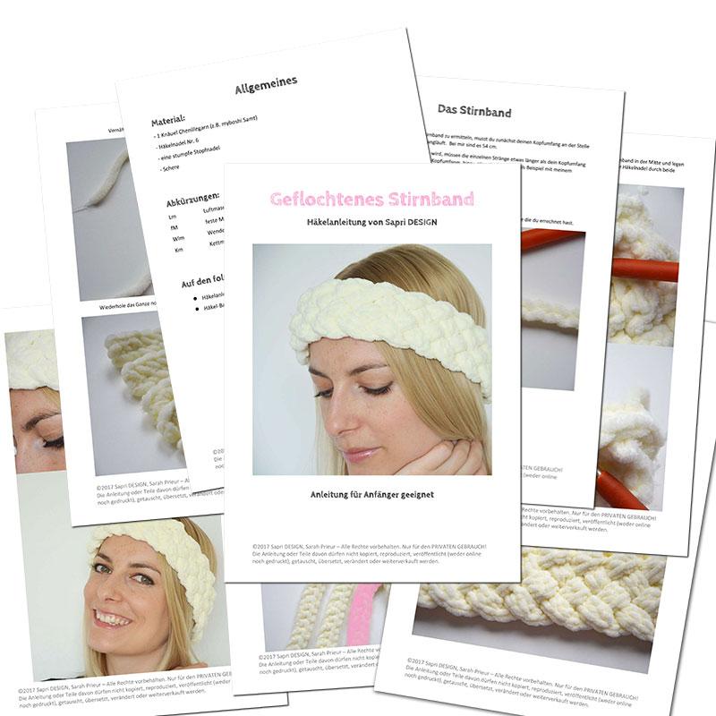 Abgenadelt Geflochtenes Stirnband Sapri Design