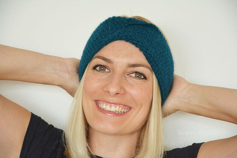 Abgenadelt Stirnband Mit Twist Sapri Design